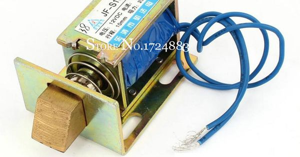 Jf S1040dl Dc12v 24v 1a Force 25n Travel 10mm Lock Type Linear Solenoid Electromagnet For Automatic Door Of Safe Box Door Lock Types Door Locks Automatic Door