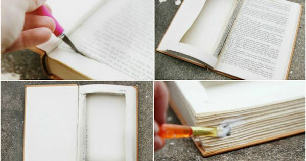 hollow book jewelry box