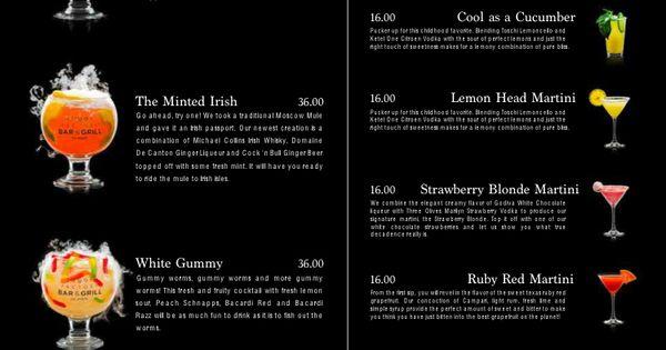 The Sugar Factory Drink menu | Have passport: Will Roam ...