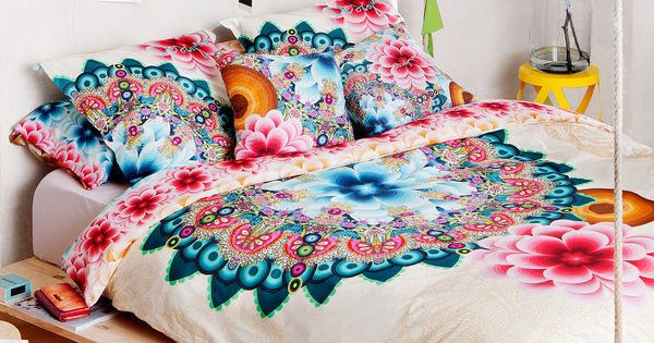 Boho bedding desigual mandala duvet cover at simons - Desigual home decor ...