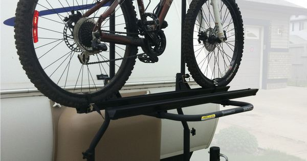 Arvika 2 Bike Rack On Travel Trailer With Bike Loaded