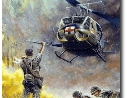 AVIATION ART HANGAR - Dustoff by Joe Kline (UH-1 Huey) | Dedicated un hesitated service to our ...