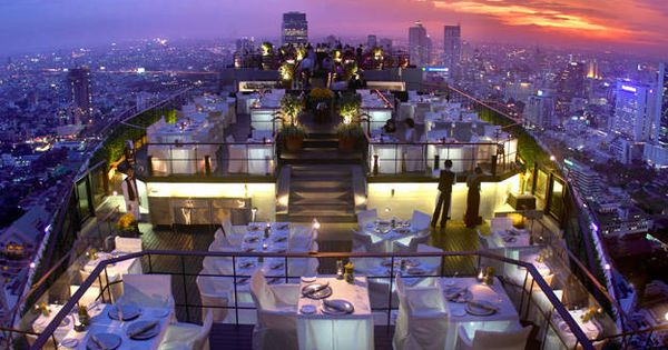 Open air rooftop Vertigo Grill & Moon Bar, Banyan Tree Bangkok, Thailand