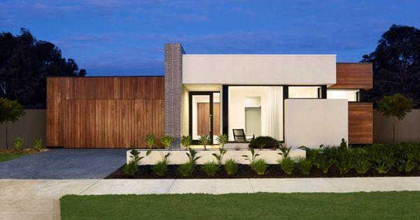 Modern house facades single storey