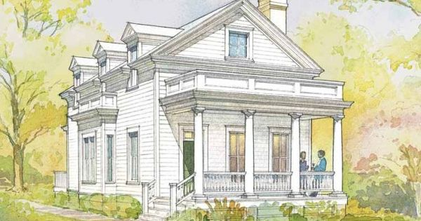 Greek Revival House Plan With 1720 Square Feet And 3