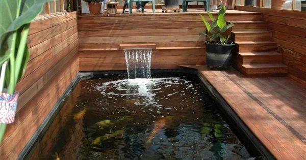 Cool Indoor Koi Pond Around The House Pinterest