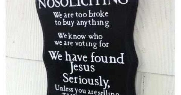 No soliciting sign/ Front door sign