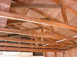 Roof Trusses Before Insulating Garage Garage Insulation Fiberglass Insulation Roof Trusses