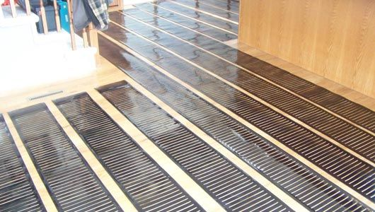 Step Warmfloor S Easy To Install Heating Mats Will Provide Cozy Electric Radiant Heat In Our Study An Floor Heating Systems Radiant Floor Heating Heated Floors