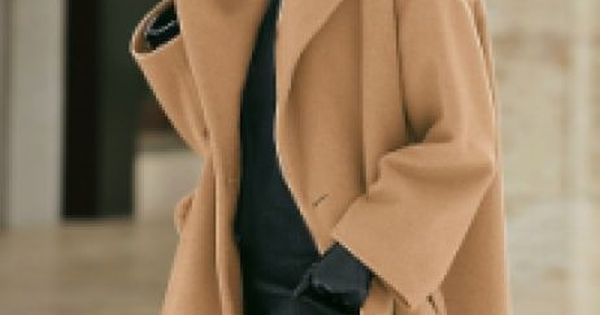 Trazel cashmere swing coat