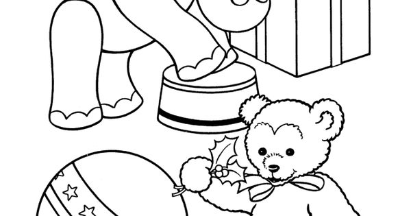 stuffed animal coloring pages - toy animal coloring page stuffed elephant and bear