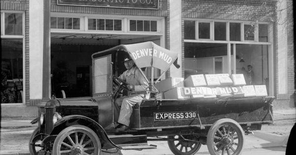 Mud Truck 1920 : Denver mud truck between and sedans coupes