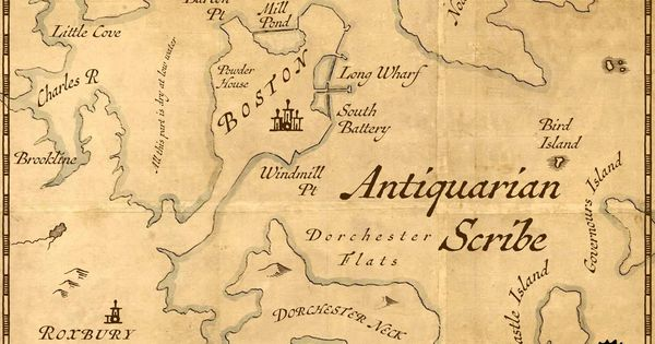 Cover Image For Antiquarian Scribe Antiquarian Vintage Maps Greek Font