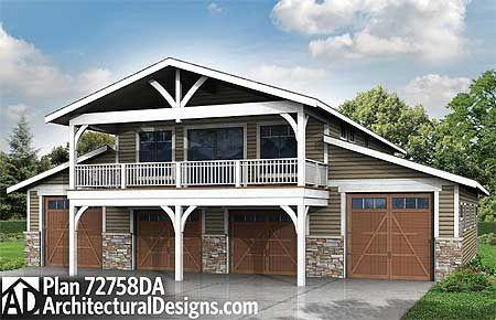 Plan 72758da Spacious 6 Car Garage W Rec Room Garage Plans With Loft Carriage House Plans Garage Apartment Plans
