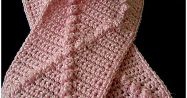 Free Crochet Pattern For Cancer Scarf : Breast Cancer Awareness Scarf pattern by Timary Peterson ...