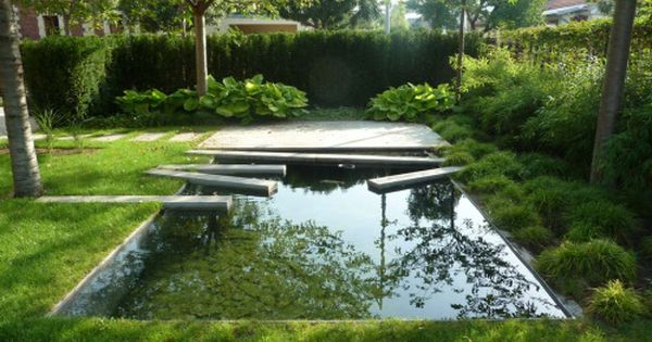 Landscapefocused Trnka Private Garden By Eva Wagnerova S I M I L A R Les Jardins De La Poterie Hillen Wirtz Fountains Backyard Backyard Reflecting Pool