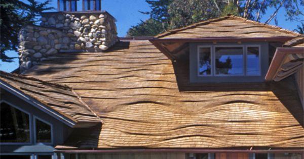 Ocean Wave Pattern Roofing Project Carmel Ca Cedar Roof Circular Buildings Cedar Shake Roof