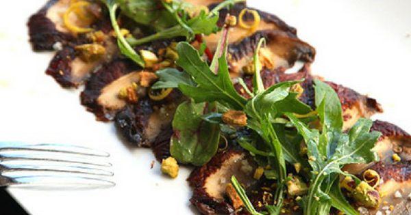 Check out Miso-Marinated Portobello Carpaccio (Vegan). It ...