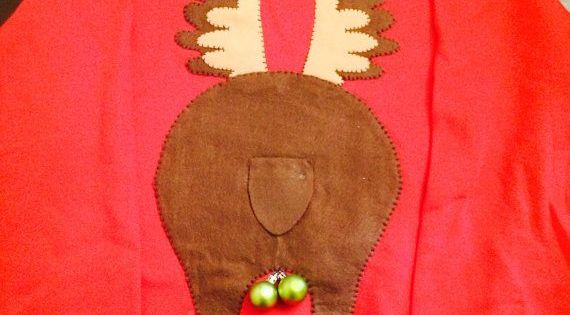 Ugly Christmas Sweater Reindeer Butt By Ddianaevans On