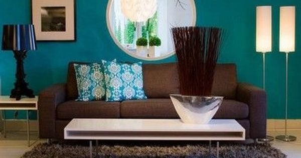 Teal and brown living room living room ideas pinterest home