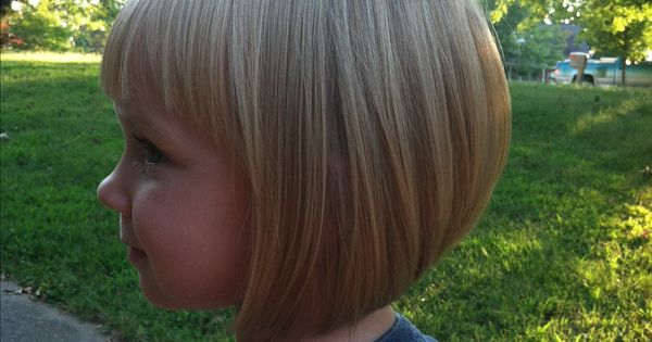 My Little Girl's Inverted Bob With Bangs
