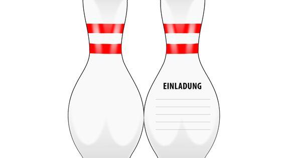 einladung kindergeburtstag bowling (kegeln): kostenlose vorlagen, Einladung