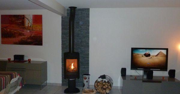 parement mural en ardoise naturelle poele pinterest. Black Bedroom Furniture Sets. Home Design Ideas