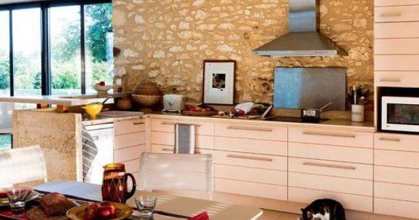 Cuisine ouverte sur la salle manger 50 id es gagnantes - Extraordinaires idees declairage cuisine ...