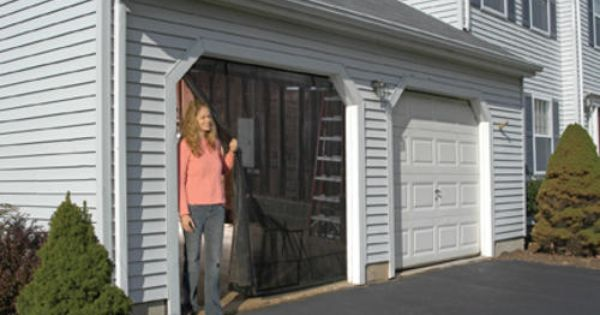 8 x 7 single door garage screen kit at menards for Single garage kit
