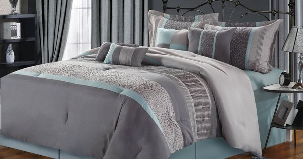 Grey Beige And Aqua Contemporary Decorating Chic Home 8
