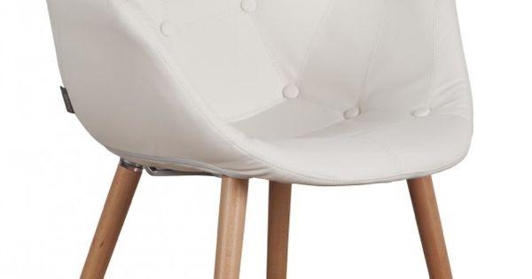 Moderne witte stoelen met armleuning google zoeken 159 for Witte leren stoelen