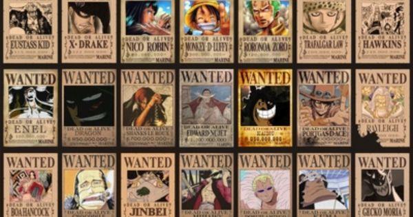Pirates One Piece Anime One Piece Manga One Piece Bounties Anime wallpaper one piece wanted