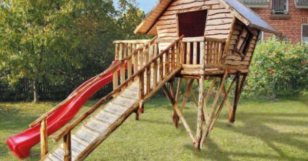 Cabane en bois unique sur pilotis jeux d 39 ext rieur pour for Cabane exterieur bois