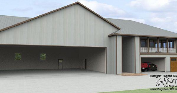 Hangar home design north of anchorage alaska 3 car garage for Garage with upstairs