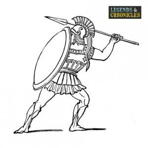 Spartan Man 2 Greek Soldier Soldier Drawing Ancient Greece