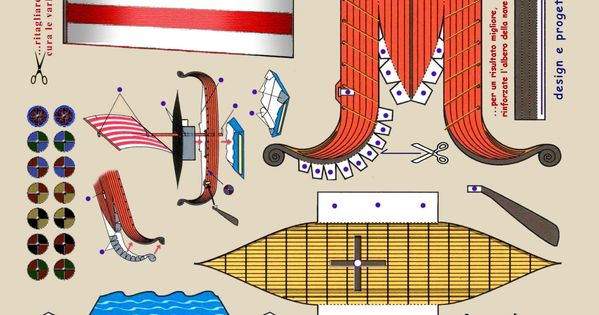 how to make a viking ship out of paper