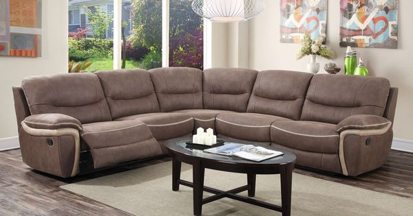 Cartright 3 piece sectional with Motion ends U8008