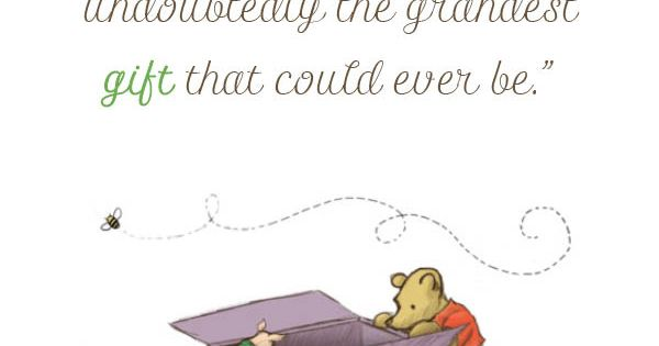 New Baby Quote Winnie The Pooh Babies Nursery And