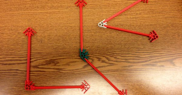 Drawing Lines Segments And Rays : Angles with k nex g geometry draw and identify lines