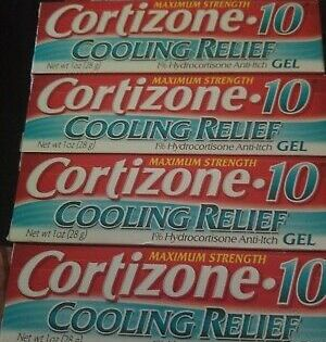 Ad Cortizone 10 Cooling Relief Anti Itch Gel 1 Oz 4 Pack With