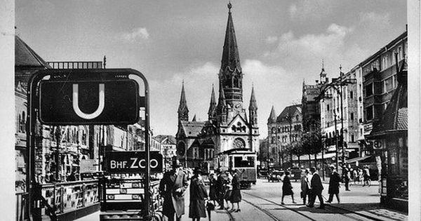 Gedachtniskirche Vor 1945 Berlin Street View Scenes