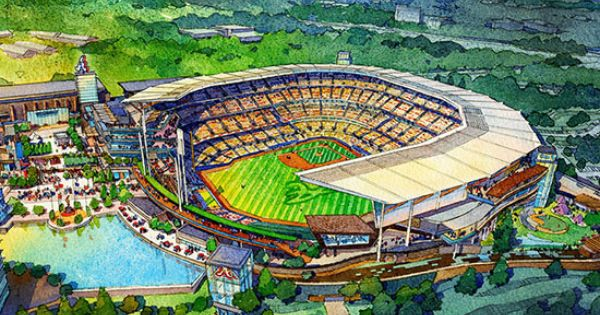 New Renderings Of Braves Stadium Suntrust Park Atlanta Braves Braves