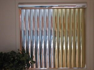 Metallic Blinds Gold Vinyl Mirror Vertical Blinds Mirror