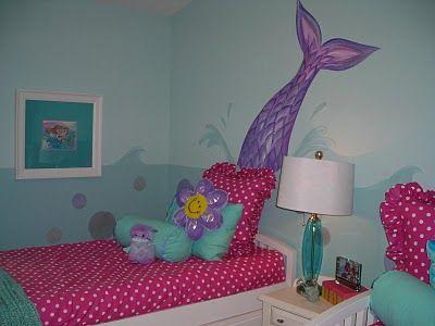 Girl S Mermaid Room Mermaid Decor Bedroom Mermaid Room Decor
