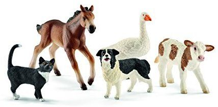 Schleich Assorted Farm World Animals Action Figures
