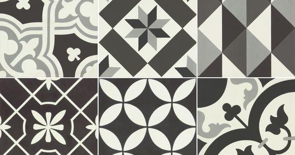 carreau de ciment belle poque d cor clara gris noir et blanc x cm leroymerlin. Black Bedroom Furniture Sets. Home Design Ideas