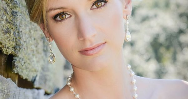 Bridal Jewelry Pearl Wedding Necklace Bridal earrings Swarovski Crystal rhinestone Swarovski Pearl,
