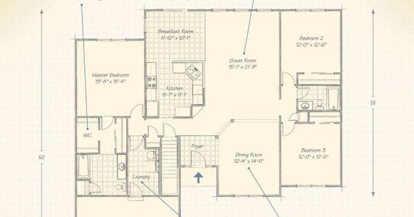 Modern ranch house floor plans the mcallister wayne for Wayne homes floor plans