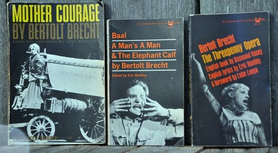 3 Book Bertolt Brecht Lot A Man S A Man And The Elephant Calf Mother Courage The Threepenny Opera In 2020 Mother Courage Brecht Books