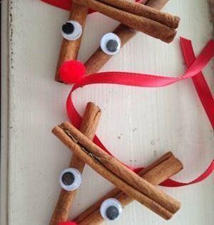 Deze Kaneelstok Rendierornamenten Zijn Gemakkelijk Te Maken En Cadeau Te Geven Basteln Einfach Deze Kaneelstok Rendierornamenten Zijn In 2020 Weihnachten Handwerk